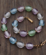 Vintage Crown Trifari Pastel Bead Choker Necklace - $78.00