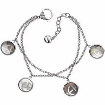 Emporio Armani EGS1507 Stainless Steel Multi Charm Logo Bracelet BNWT $125 - $59.75