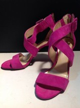 Jessica Simpson Strappy Genuine Suede Pink Shoes 8.5 - $20.79