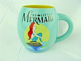 Disney Silver Buffalo Green THE LITTLE MERMAID Ceramic 18 oz Oval Coffee... - $18.76