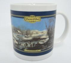 Currier & Ives Winter Morning 1854 Coffee Mug Frozen Pond HF - $12.32