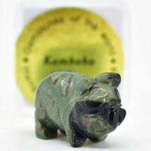 Kambaba Jasper Gemstone Tiny Miniature Pig Figurine Hand Carved in China