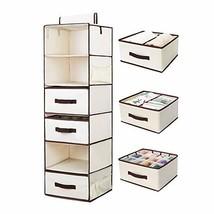StorageWorks Hanging Closet Shelves, 6 Shelf Closet Hanging Organizer wi... - $51.32