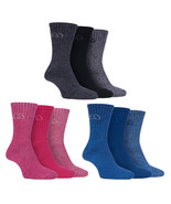 Storm Bloc - 3 Pairs Ladies Lightweight Ribbed Cotton Walking Socks for Summer - $13.29