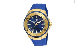 Technomarine TM-215085 Women's Manta Automatic Gold & Blue Silicone Casu... - $296.99