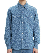 Levi's Men's Classic Casual Denim Printed Sawtooth Western Shirt image 4