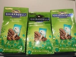 3 Bags Ghirardelli 4.19 Oz. Each Limited Edition Creamy Milk Chocolate Bunnies  - $13.86