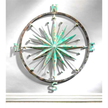 """Rose of the Winds"" Compass Rose Wall Sculpture (Availability expected 1... - $127.75"