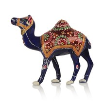 Metal hand painted Camel Indian Royal Camel figure artistic Camel - $44.87