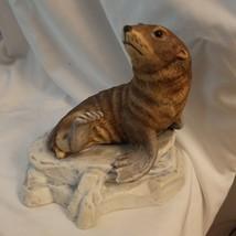 Vintage Enesco Forever Nature Fred Aman Brown Seal Ltd Edition Sculpture - $7.87