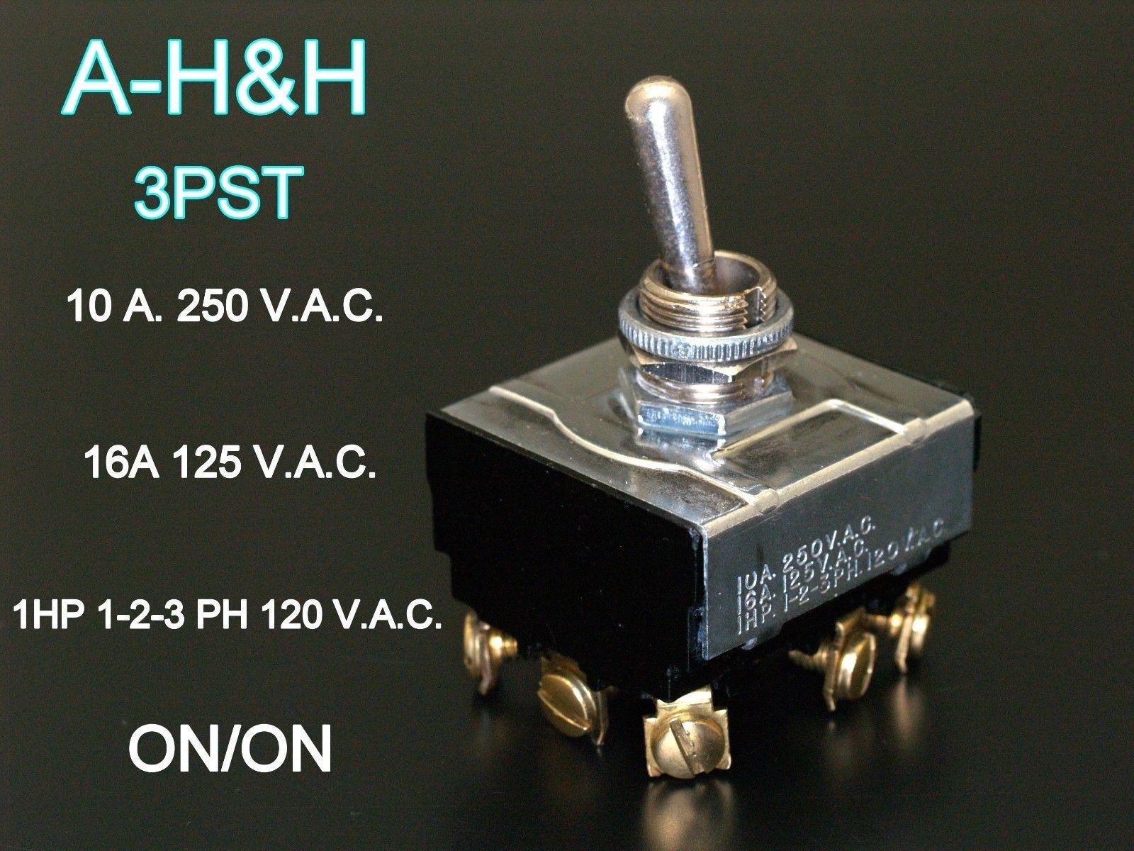 - NEW 1//2 HP 125 VAC ITW SPDT ROCKER SWITCH 10A 10 PCS