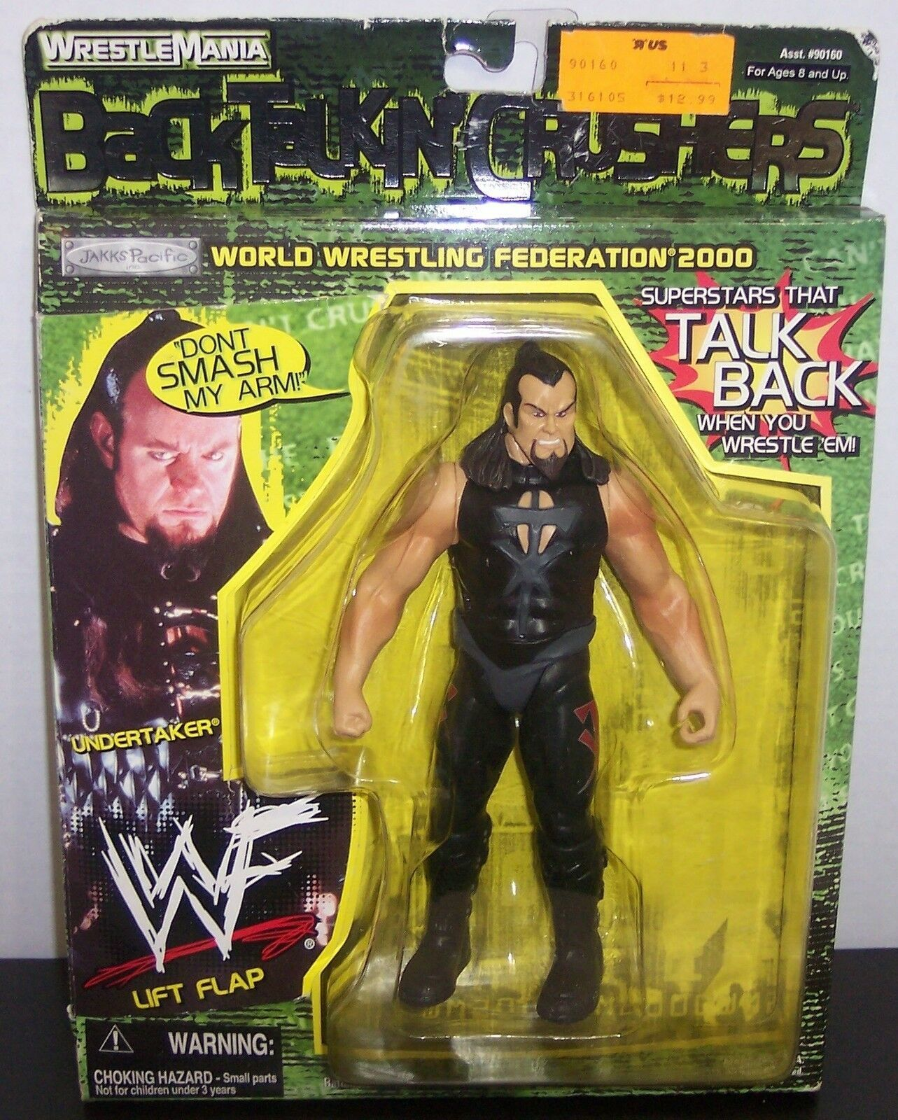 "New! 1999 Jakk's Back Talkin' Crushers ""The Undertaker"" Action Figure WWE [804] - $19.79"