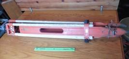 Tripod David White Co Transit Survey Equipment Wood aluminum vintage ora... - $89.10