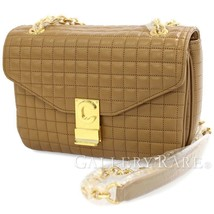 CELINE Medium C Chain Shoulder Bag Calf Light Camel 187253BFC Authentic 5443246 - $2,435.53