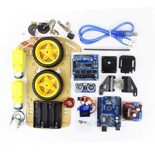 Intelligent Elektronik Motor Intelligent roboter-auto-fahrgestelle Kit Rotary