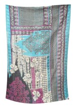 Indian Reversible Kantha Quilt Handmade Bedspread Twin size Throw Patchwork - $37.45