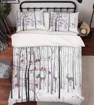 3D Woods Animals Bed Pillowcases Quilt Duvet Cover Set Single Queen King... - $64.32+