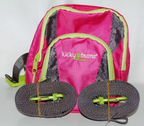 Lucky Bums 101PK Childrens Ski Trainer Color Pink Handle Leash Backpack