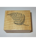 Fern Frond Rubber Stamp PSX Leaves Plants Retired Wood Mounted Rare Design - $9.89