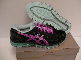 Women's Asics running shoes gel quantum 360 black pink glow size 9.5 us new - $148.45