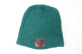 Love Your Melon Leather Patch Outdoor Winter Knit Beanie Hat Cap Green U... - €31,11 EUR