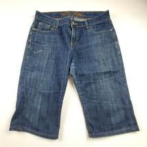 Tommy Hilfiger Womens Jean Shorts Sz 6 Mid Rise Bermuda Medium Wash Denim - $20.68