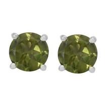 Tiny Stud Peridot Gemstone 925 Sterling Silver Women/Girls Earring - $23.33