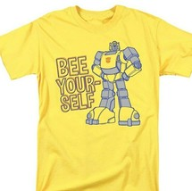 Transformers Bumble Bee T-shirt retro 80s toys saturday cartoon yellow tee image 1