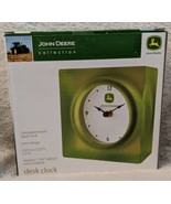 John Deere Collection LP25131 Transparent Resin Desk Clock Retro Design - $24.95