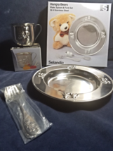 """Vintage-Selandia """"Hungry Bears"""" plate,cup, spoon & fork 18/8 stainless s... - $19.50"""