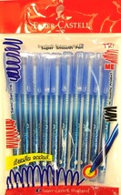 Faber-Castell CX5 ballpoint blue ink pen 0.5 mm tip 10 pieces Trendy design - $10.99