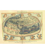 Map of the World Ptolemy Photogravure Antique Print 1903  - $99.00