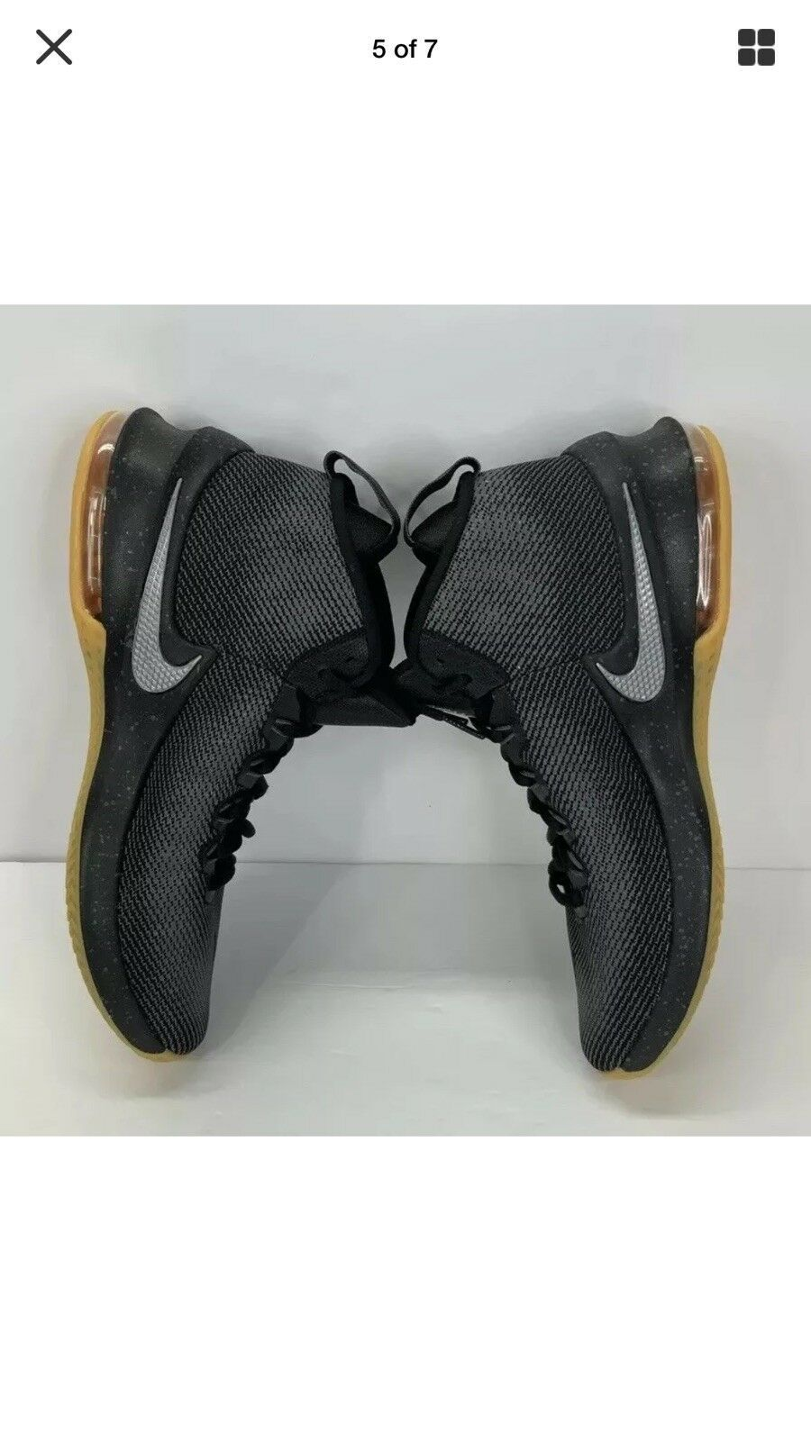 NIKE AIR MAX INFURIATE MID PRM MENS SHOES AA4439 001 Size 8.5 WITH BOX No Top image 5