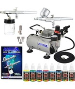 2 Master Airbrush Professional Gravity and Siphon Feed Airbrushing Syste... - $148.79