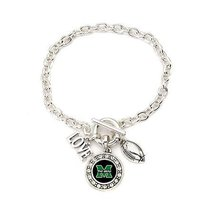 Inspired Silver Marshall Thundering Herd Love Football Charms Silver Pla... - $613,12 MXN