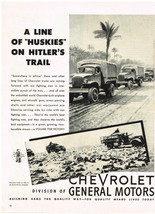 Vintage 1943 Magazine Ad For Chevrolet Trucks Our Fighting Men Deserve The Best - $5.93