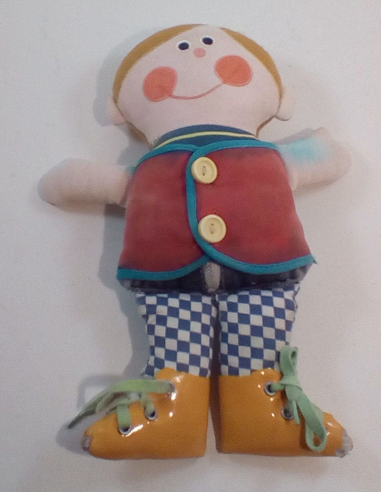 "Playskool Dapper Dan 10"" Teaching Doll 1970 Vintage DAMAGED Adult Collectible"