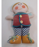 "Playskool Dapper Dan 10"" Teaching Doll 1970 Vintage DAMAGED Adult Collectible - $17.30"