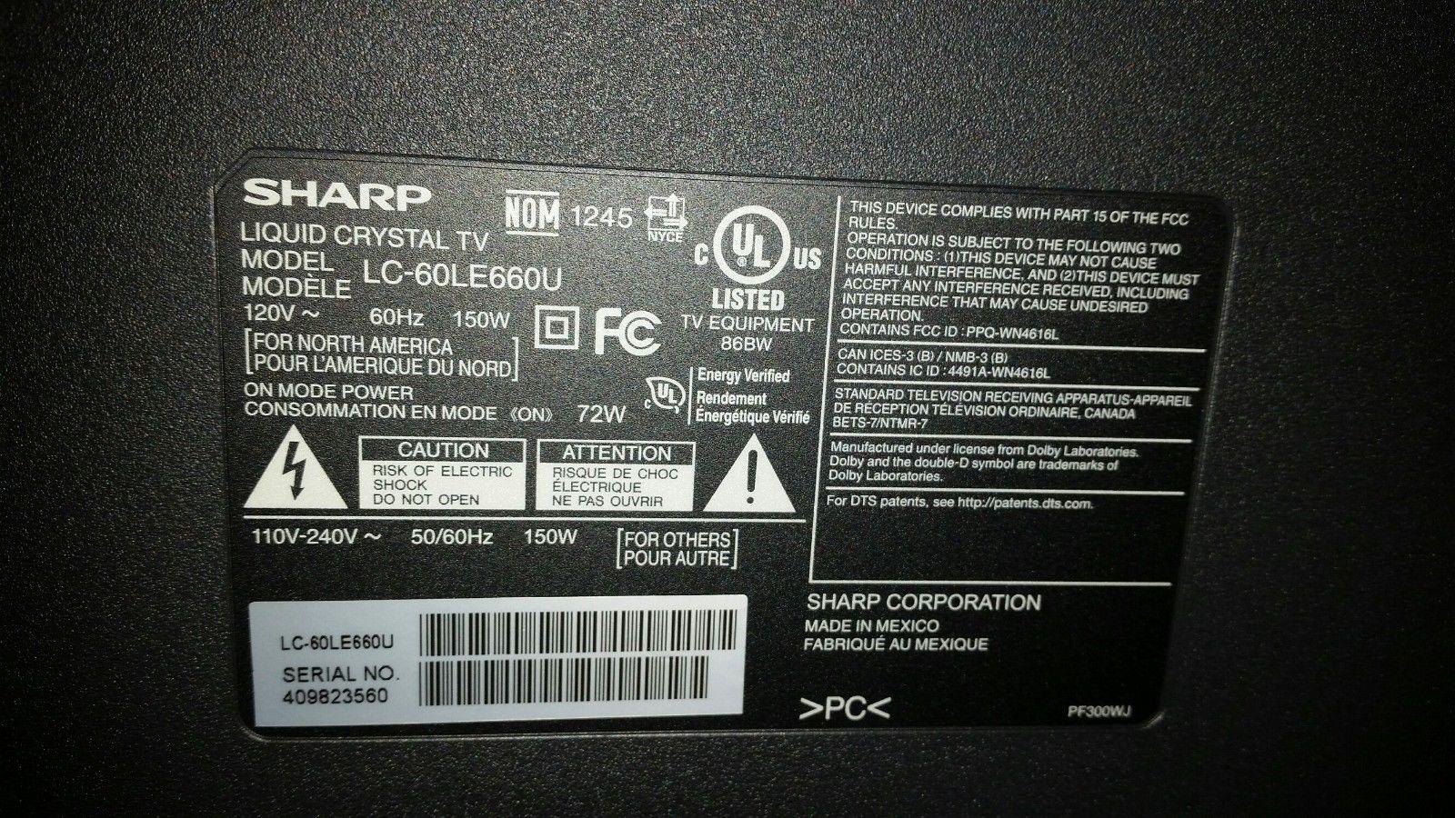 Sharp LC-60LE660U -LVDS Cable (QCNW-P260WJZZ)