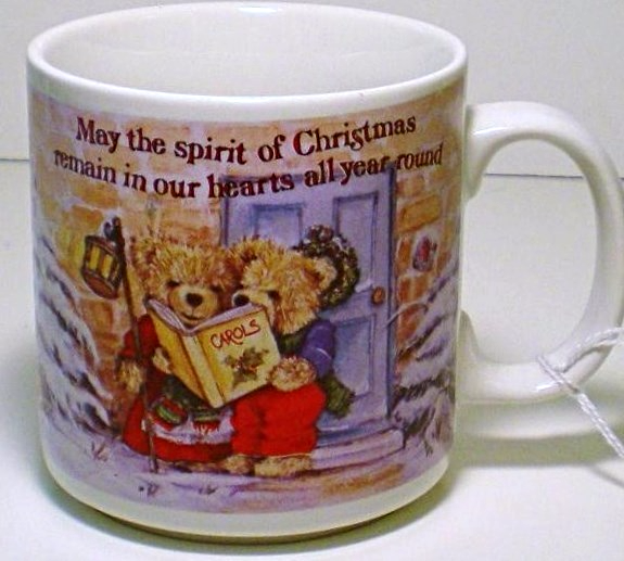 Primary image for Russ Berrie Occasion's Teddy Bear Tea Coffee Mug Christmas cup