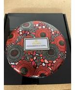 Voluspa PERSIMMON & COPAL Decorative 3-Wick Tin Candle 12oz - SAME DAY S... - $24.50