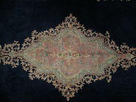 11x17 Navy Blue Handmade Open Field Durable Fine Original Persian Rug image 6