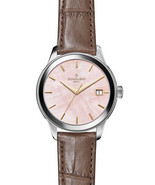 GOMELSKY Shinola Pink Mother of Pearl Grace Lightfoot Alligator Leather ... - $328.53