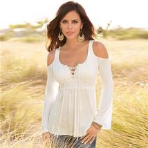 Womens Cold Shoulder Long Sleeve Blouse Up to Sz 5XL - $32.00