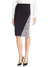 Calvin Klein Women's Color-Block Notched Pencil Skirt Size XL  - $20.79