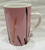 Starbucks 2004 Pink Lotus Flower Coffee Mug Cup Floral Nature - $12.95