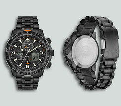 Citizen JY8075-51E Eco-Drive Black Stainless Steel Chronograph 46mm Watch - $360.64