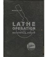 Manual of Lathe Operation and Machinists Tables [Plastic Comb] Atlas Pre... - $54.40
