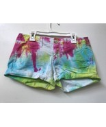 American Eagle Outfitters Womens Multicolor Tie Dye Shortie Stretch Shor... - $14.95