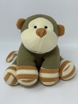 "Knit with Love Animal Adventure Monkey 2010 Stuffed Soft Plush Sock Toy 8"" High - $13.85"